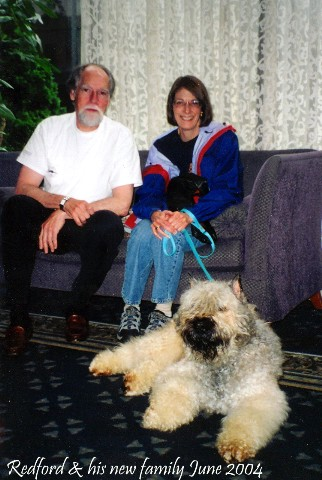 Redford and his new family - June 2004